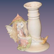 Vintage Doll Fairy Fortune Fairies Originals By Karen Candlestick Wonderful Fairy doll Figure Pottery Porcelain
