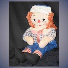 Vintage Raggedy Andy Johnny Gruelle's Own Georgene Novelties Cloth Doll W/ Tag