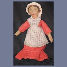 Old Doll Cloth Unusual Nurse