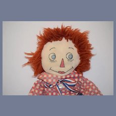 Vintage Doll Raggedy Andy Surprised Look Wonderful Sewn Features Unusual