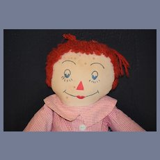 Old Doll Raggedy Andy Cloth Rag Doll WONDERFUL