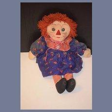 Old Doll Raggedy Ann Clot Doll Rag Doll Sweet!