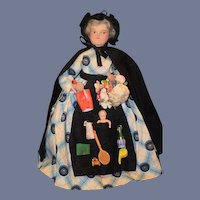 Old Doll Wood Carved Head Peddler VICKY Wonderful