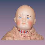 Antique Doll ABG Bisque Solid Dome Gorgeous Closed Mouth