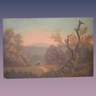 Old Painting Impressionist Oil Landscape WONDERFUL F.W. Devoe Academy