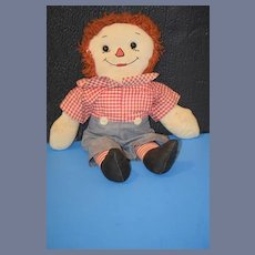 Vintage Doll Raggedy Andy Cloth Rag Doll