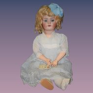 Antique Doll Bisque Simon & Halbig Character Girl Unusual Mark Gorgeous doll Old Original Clothing Provenance