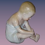 Antique Doll Bisque Piano Baby Foot Curiosity Wonderful