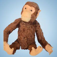 Old Doll Monkey Yes No Large size Moves Head Yes and No Great in Dolls Arms w/ mechanism Schuco or Steiff