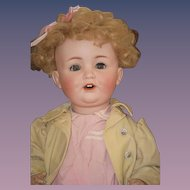 Antique Doll Bisque Baby Character BIG BABY  WONDERFUL Dressed
