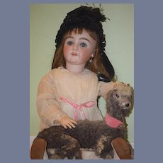 Antique Doll Toy Lamb Real Leather Wonderful Display