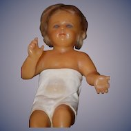 Old Doll Wonderful Poured Wax Glass Eyes Child