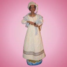 Vintage Doll Black Artist Elizabeth Jenkins Black Wonderful Sculpture