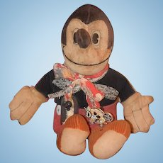 Old Doll Mickey Mouse Character Novelty Company Co. W/ Tag Wonderful Cloth