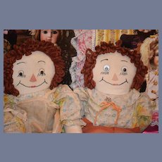 Wonderful Doll Dolls Rag Doll Cloth Doll Set Raggedy Ann & Andy Googly