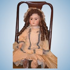 "Antique Doll French Bisque TeTe Jumeau Big 30"" Beautiful Doll Dressed"
