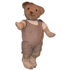 Old Teddy Bear Doll Friend Mohair Character Bear W/ Glasses