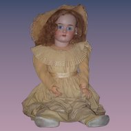 "Antique Doll HUGE 31"" Bisque Handwerck 99 Beautiful Clothing Sweet Young Girl"