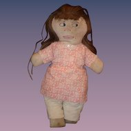 Old Doll Cloth Doll Rag Doll Folk Art Unusual