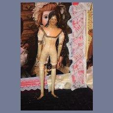 Antique Doll Milliner's Model Papier Mache Fancy Hair Style Paper Mache