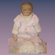 Antique Doll Early Cloth Doll Rag Doll Folk Art WONDERFUL
