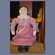 Old Doll Cloth Rag Doll Folk Art Unusual