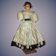 Antique Doll Wax Over Papier Mache Wood Arms and Legs Folk Art Primitive