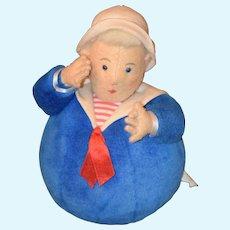 Schylling Toys Roly Poly Cloth Doll Sailor Man Felt Rattle
