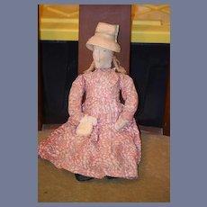 Old Doll Cloth Doll Rag Doll Primitive Folk Art Lady Doll