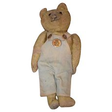 Old Lonesome Teddy Bear Mohair Jointed Doll Friend Hump Back
