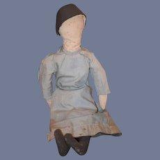 Old Doll Cloth Doll Rag Doll Folk Art Primitive Unusual