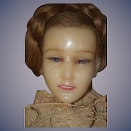 Antique Doll Poured Wax English FAB Fashion Doll W/ Original Clothing STUNNING