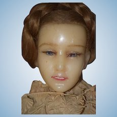 Antique Doll Poured Wax English FAB Fashion Doll W/ Original Clothing STUNNING