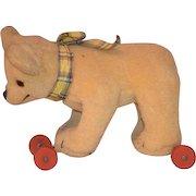 Teddy Bear On Wheels Pull Toy For Doll Sweet