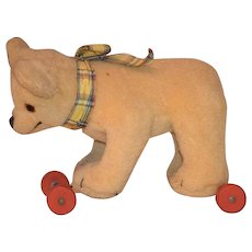 Teddy Bear On Wheels Pull Toy For Doll Sweet