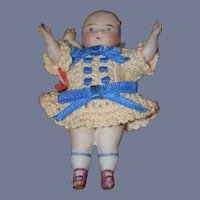 Antique Doll All Bisque Miniature Dollhouse Wonderful Character