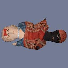 Old Doll Cloth Doll Rag Doll Topsy Turvy Black Doll White Doll