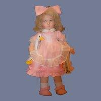 Vintage Doll Lenci W/ Original Tag W/ Goose