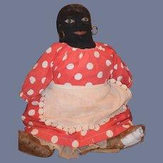Old Doll Cloth Doll Rag Doll Folk Art Primitive Black Doll Stockinette