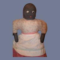 Old Doll Cloth Doll Rag Doll Black Doll Folk Art
