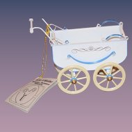 Wonderful Tucher Walther Tin Doll Pram Buggy Carriage in Original Box Wonderful German Miniature