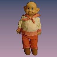 Antique Ideal Dopey Composition Doll Ventriloquist Snow White Walt Disney