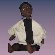 Wonderful Doll Cloth Doll Rag Doll Black Doll Artist Doll Gorgeous 25""