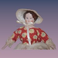 Vintage Doll Ruth Gibbs in Fancy clothing China Head
