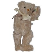 Vintage Teddy Bear English Artist Alpha-Farnell Signed OLIVER HOLMES Merrythought Jointed W/ Tags