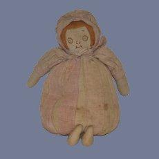 Old Doll Cloth Doll Rag Doll Unusual Folk Art SWEET Elliott Novelty