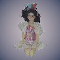 Vintage Doll Wax Doll Artist Gorgeous Jointed