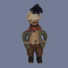 Old Doll Cloth Doll Rag Doll Unusual Glass Eyes Character Felt Doll