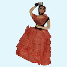 Old Doll Cloth Spanish Dancing Lady Fancy Clothing