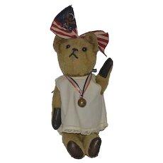 Old Teddy Bear Button Eyes Mohair Adorable